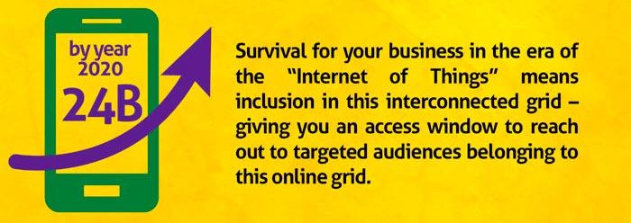"""Le marketing numérique vous prépare pour """"l'Internet des objets"""""""