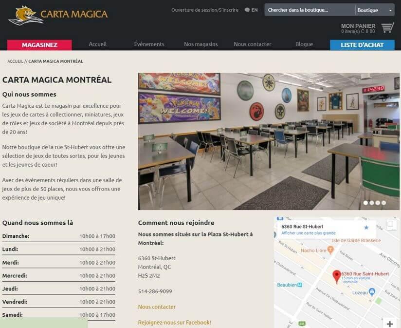 Refonte de la boutique en ligne de Carta Magica