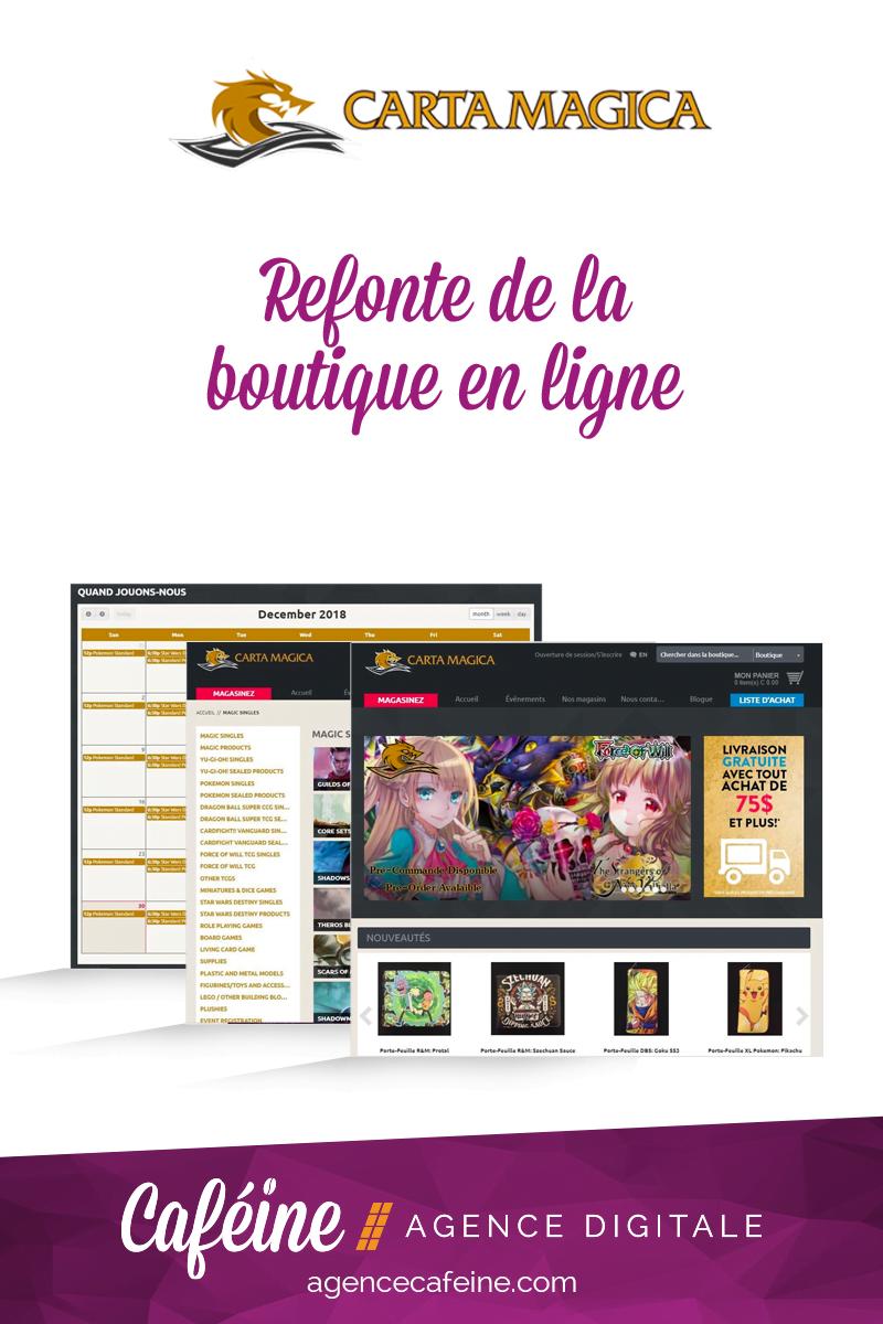Carta Magica refonte boutique en ligne