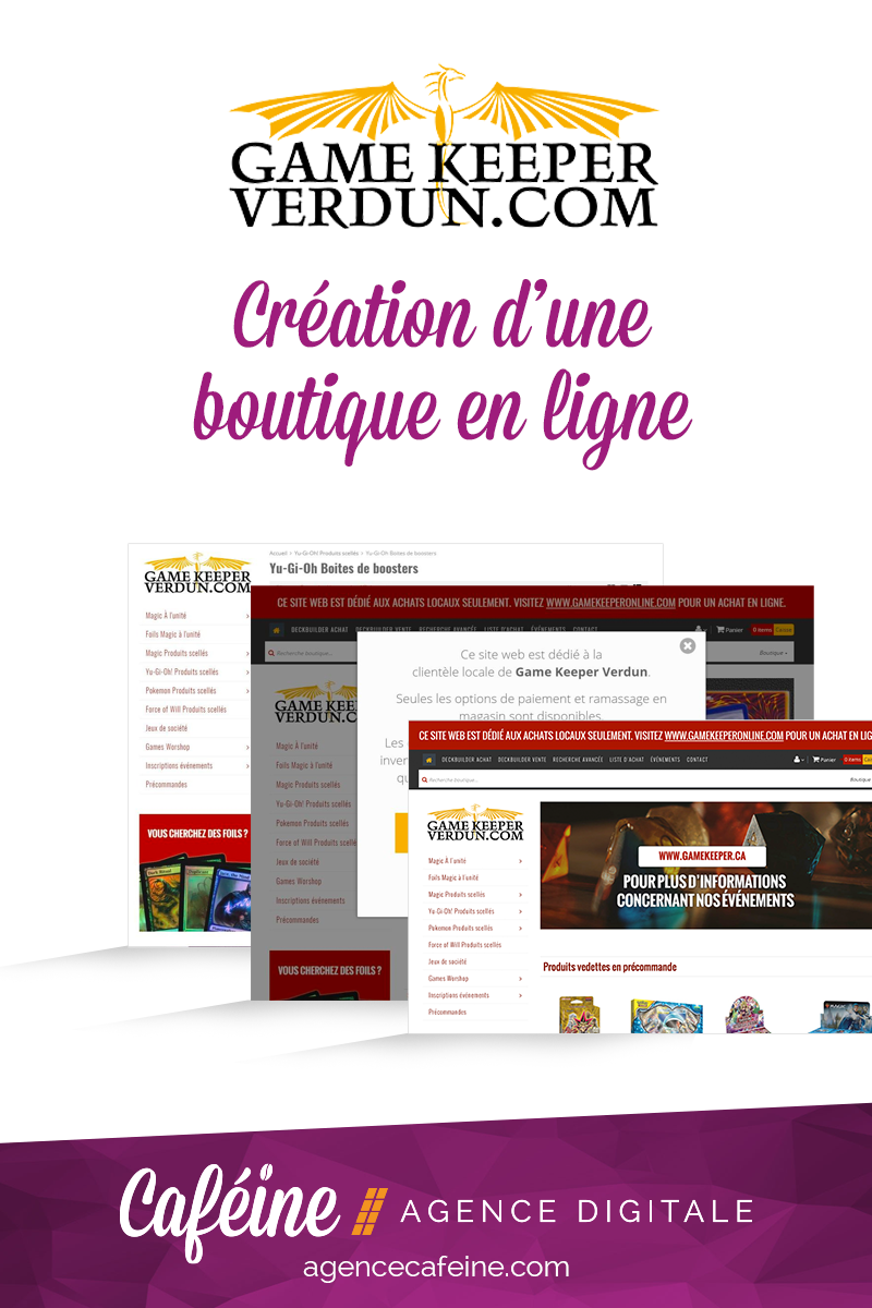 creation boutique en ligne gamekeeper verdun