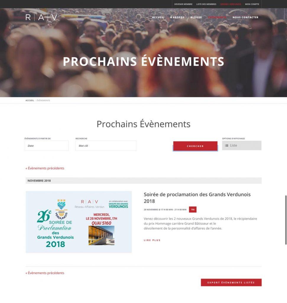 création site web Reseau Affaires Verdun