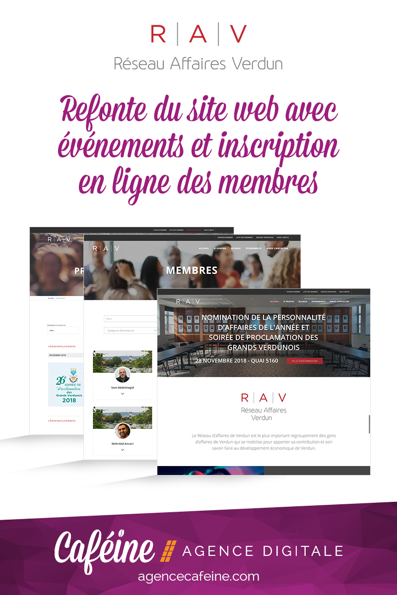 creation site web Reseau Affaires Verdun
