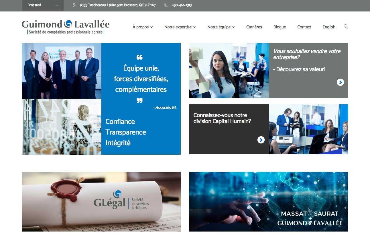 creation site web guimond lavallee cpa