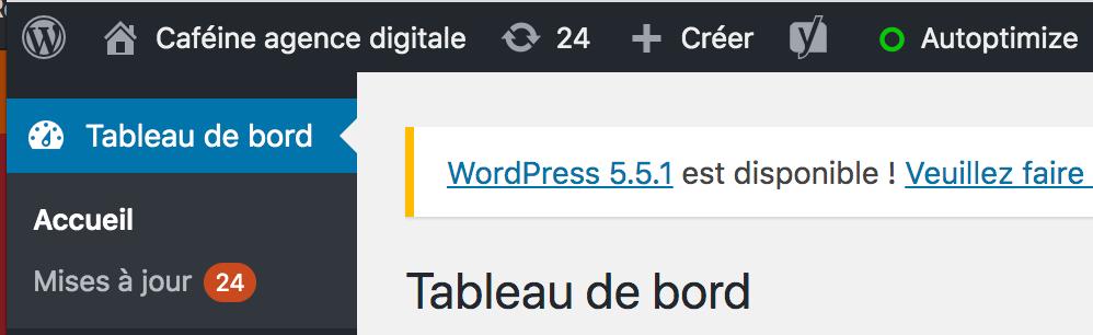 faire les mises a jour wordpress