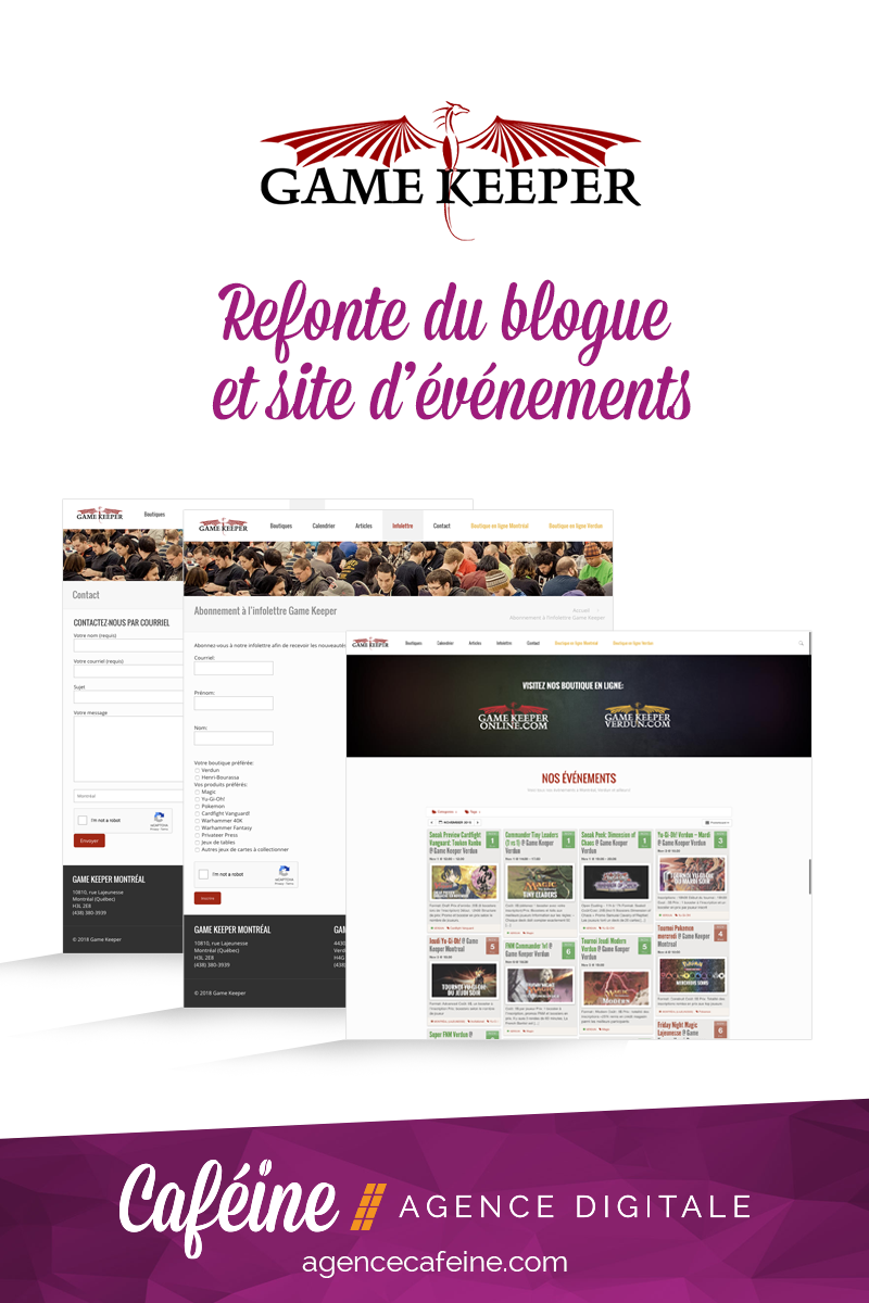 Refonte du site web de Game Keeper