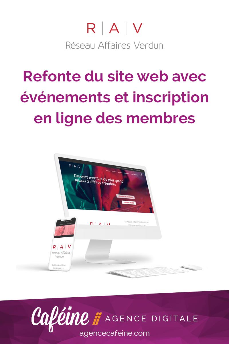refonte et optimisation du site web Reseau Affaires Verdun