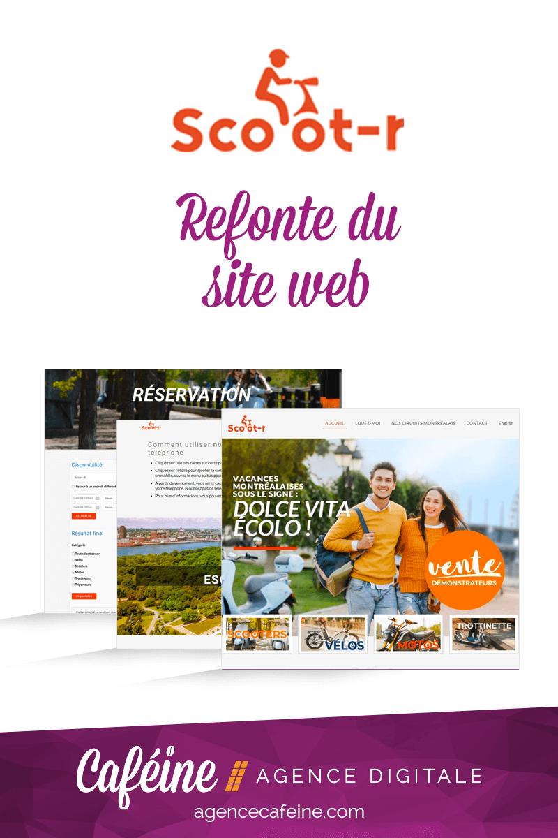 refonte site web scootr