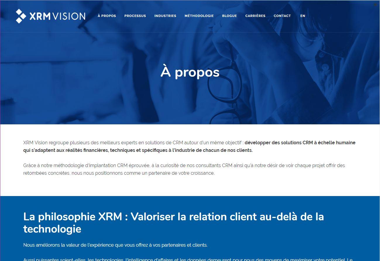 refonte de site web xrm vision