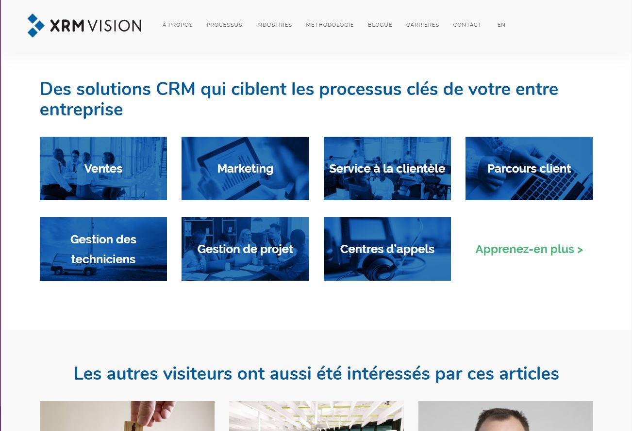 Refonte du site web de XRM Vision